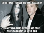 Sometimes I Forget Nic Cage Has A Son