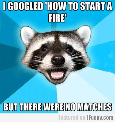 I Googled How To Start A Fire, But There Were...