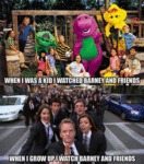 When I Was A Kid I Watched Barney And Friends