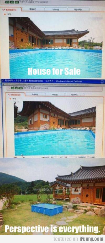 house for sale, perspective is everything