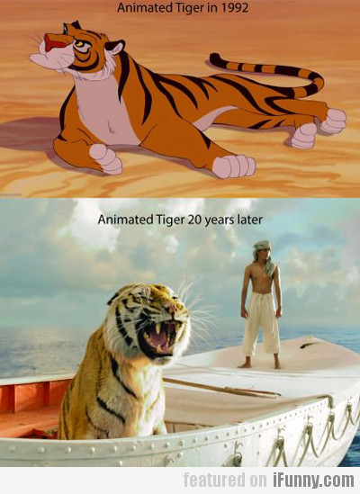 Animated Tiger In 1992, Animated Tiger 20 Years...