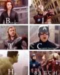 Black Widow, Iron Man, Thor, Captain America...