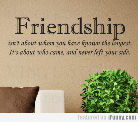 Friendship Isn't About Whom You Have Known...