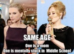 Same Age, One Is A Mom, One Is Mentally Stuck...