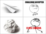 Paper Plane: Challenge Accepted!