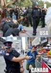 Cops: Usa Vs Canada