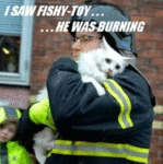 I Saw Fishy-toy, He Was Burning