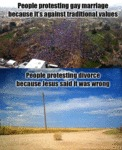 People Protesting Gay Marriage Because...