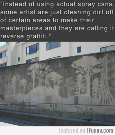 Instead Of Using Actual Spray Cans...
