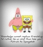 Knowledge Cannot Replace Friendship...