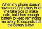 When My Phone Doesn't Have Enough Battery..