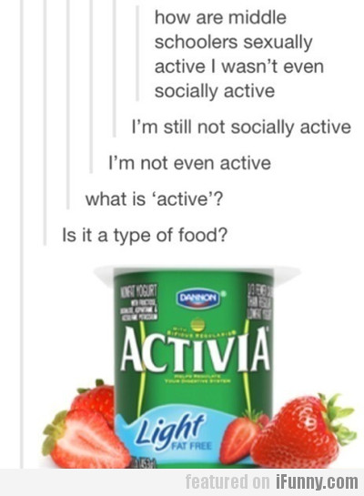 How are middle schoolers active?