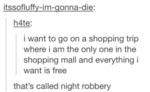 I Want To Go On A Shopping Trip Where..