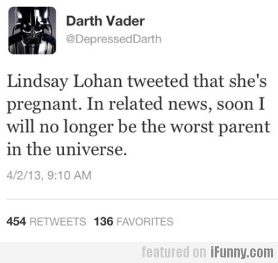 Lindsay Lohan Tweeted That She's Pregnant.