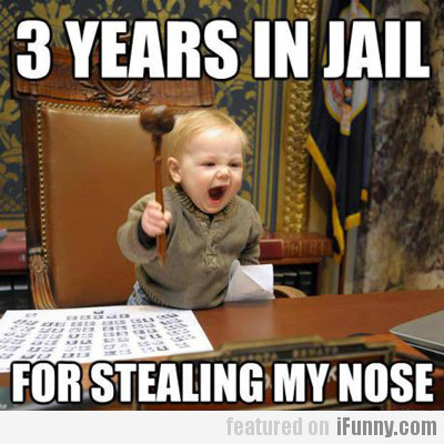 3 Years In Jail, For Stealing My Nose