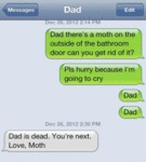 Dad, There's A Moth On The Outside Of The Bathroom