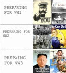 Preparing For Ww1, Preparing For Ww2, Preparing...