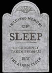In Loving Memory Of Sleep...