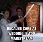 Because Cake At Wedding Is Too Mainstream