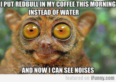 i put red bull in my coffee this morning...