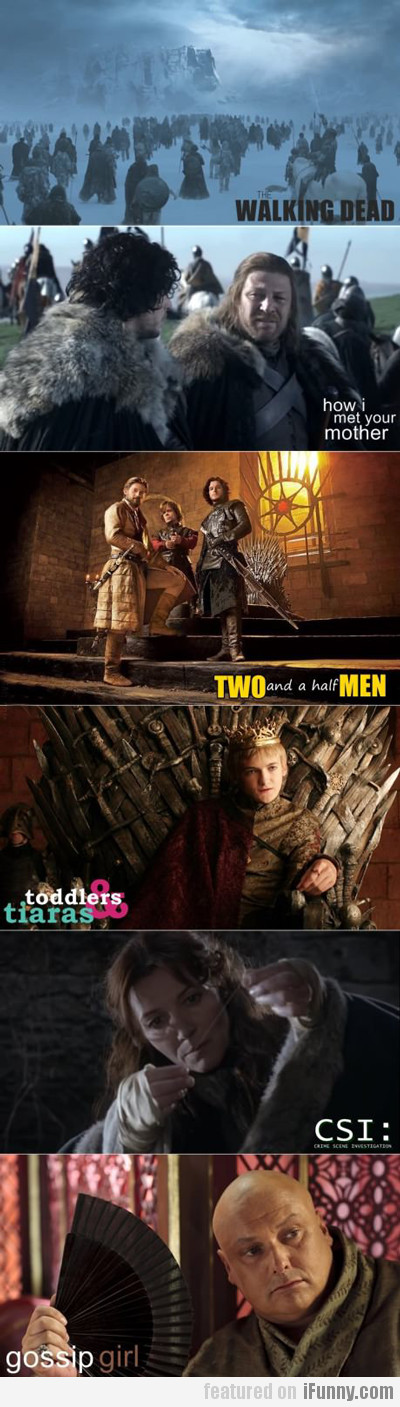 Game Of Thrones Vs Tv Shows