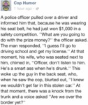 A Police Officer Pulled Over A Driver