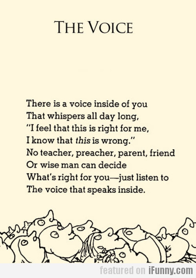There Is A Voice Inside Of You