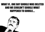 What If.. One Day Google Was Deleted And We..