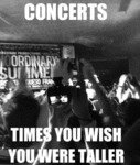 Concerts, Times You Wish You Were Taller