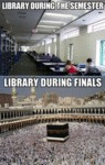 Library During The Semester...