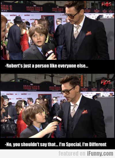 robert's just a person like everyone else...