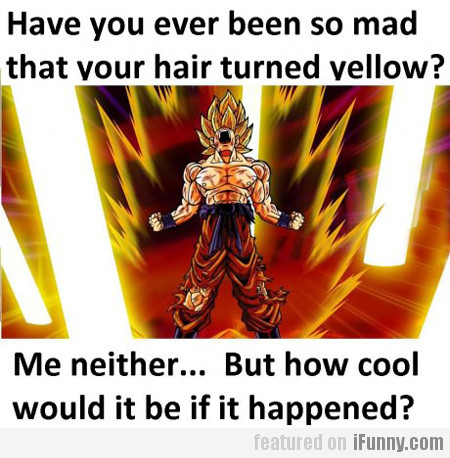 Have You Ever Been So Mad That Your Hair...