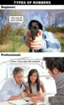 Types Of Robbers: Beginner Vs Professional
