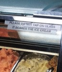 Please Do Not Tap On The Glass...