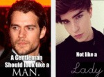 A Gentleman Should Look Like A Man...