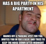 Has A Big Party In His Apartment...