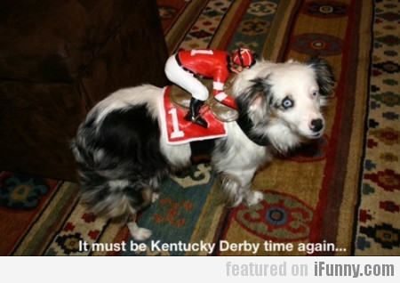 It must be Kentucky Derby time again...