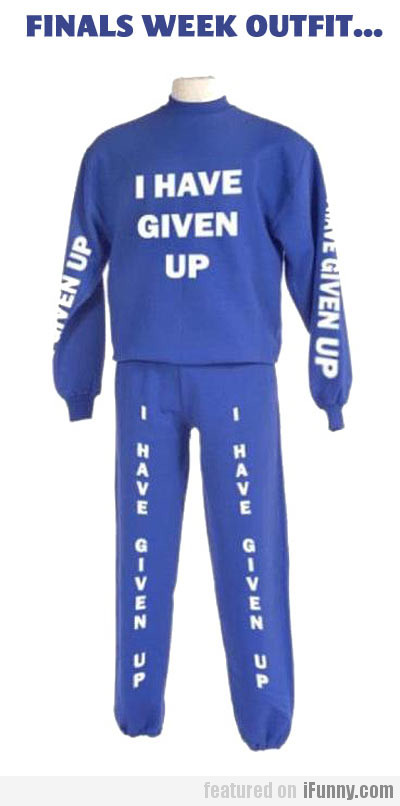Finals Week Outfit...