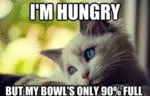 I'm Hungry, But My Bowl's Only 90% Full