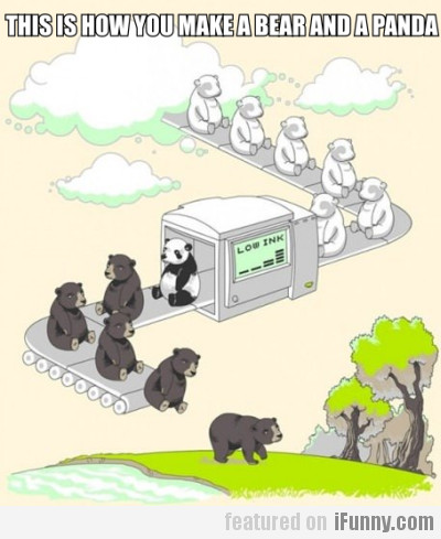 This is how you make a bear and a panda