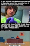 15 Year Old Jack Andraka Invents A New...