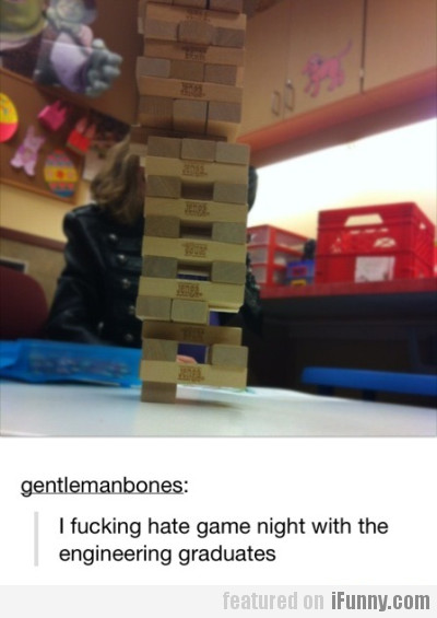 I Hate Game Night With The Engineering Graduates..