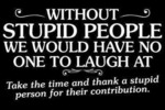 Without Stupid People We Would Have No One To...
