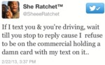 If I Text You & You're Driving, Wait Till You Stop