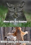 When Girls Are Hugging...