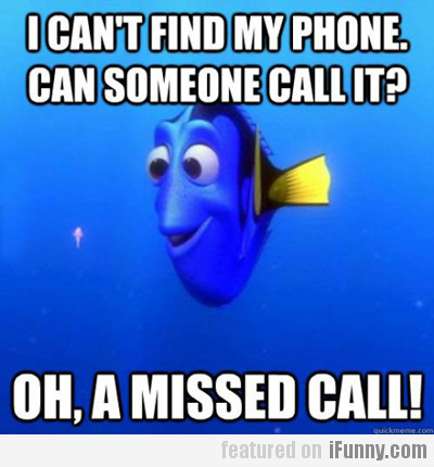 I Can't Find My Phone...