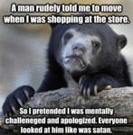 A Man Rudely Told Me To Move...