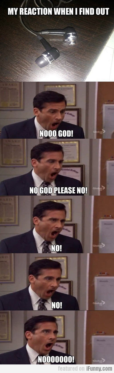 my reaction when i find out...