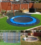 Sunken Trampoline, Safer For Children...
