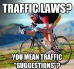 Traffic Laws? You Mean Traffic Suggestions?